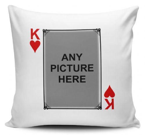 Personalised Pack Of Playing Cards (KING,QUEEN,JACK) Funny Novelty Cushion Cover